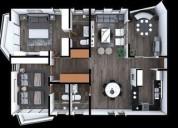 Penthouse de gran plusvalía en playa del carmen 3 dormitorios 275 m2
