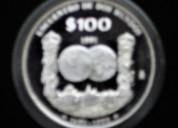 Moneda de plata de mÉxico, encuentro de dos mundos.