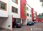 Renta casa cerca centro de coyoacán de 147 m2t y 270 m2c 3 dormitorios