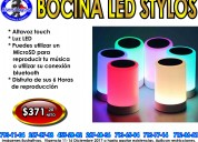 Bocina portatil led stylos