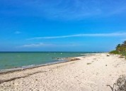 Terreno en la playa frente al mar, san benito, progreso, yucatan 800 m2