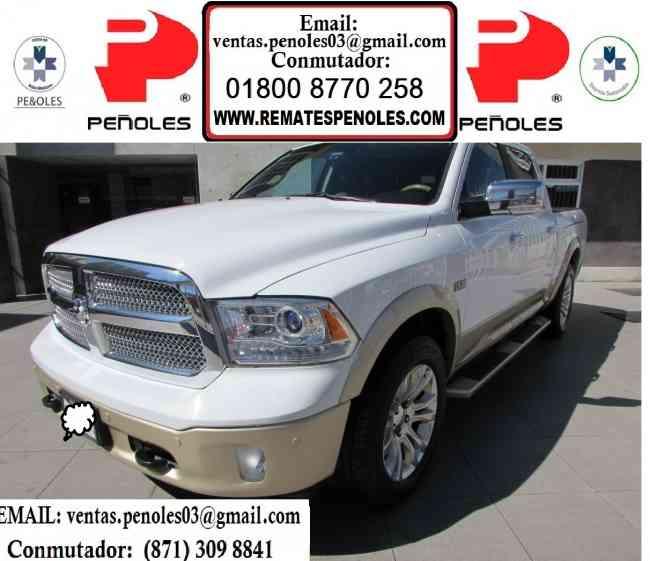 Grupo Peñoles Vende Dodge Ram Laramie Longhorn Año 2014 4PTS Crew  Cab Laramie Longhorn V8, 5.71