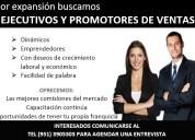 Se solicitan ejecutivos y promotores de ventas