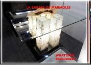 Comedores en marmol y onix