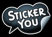 Labore desde casa empacando stickers