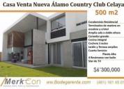 Casa venta residencia lujosa 500m2 alamo country club celaya gto mex 4 dormitorios