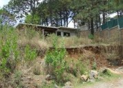 Terreno plano con construccion en obra negra agradable clima entorno bosque 570 m2