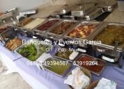 Buffet banquetes guisados para bodas xv años