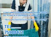 Servicios domesticos de planta y entrada x salida