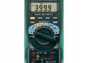 Multimetros, voltamperimetros, medidores de aislamiento, tierras físicas y restividad kyoritsu