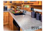 !!! cubiertas en granito natural gris claro !!!