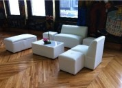 Salas lounge color blanco