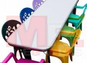 Silla apilable infantil en color economica
