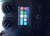 Estereo touch screen 7 bluetooth con camara trasera y salidas para pantallas.
