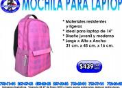Mochila para laptop / rosa con gris/ easy line