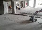 Desbaste de pisos en general