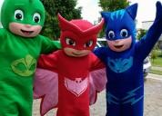 Heroes en pijama, pj masks, botargas, fiestas infantiles, piñatas, inflables, pastel de cumpleaños