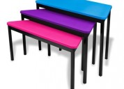 Mesas escolares colores