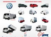 Campers y cajas de fibra de vidrio y aluminio para volkswagen
