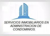Servicios inmobiliarios en administracion de condominios,