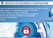Servicios de inteligencia e investigacion