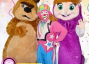 Payasos con masha y el oso para fiestas infantiles