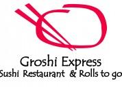 Menu restaurante buffet comida japonesa groshi queretaro sushi express