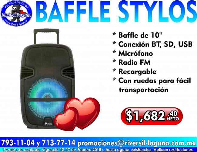 BAFFLE STYLOS DE 10 PULGADAS
