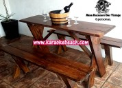 Fiesta de piratas renta mobiliario de madera rustico vintage en monterrey san nicolás