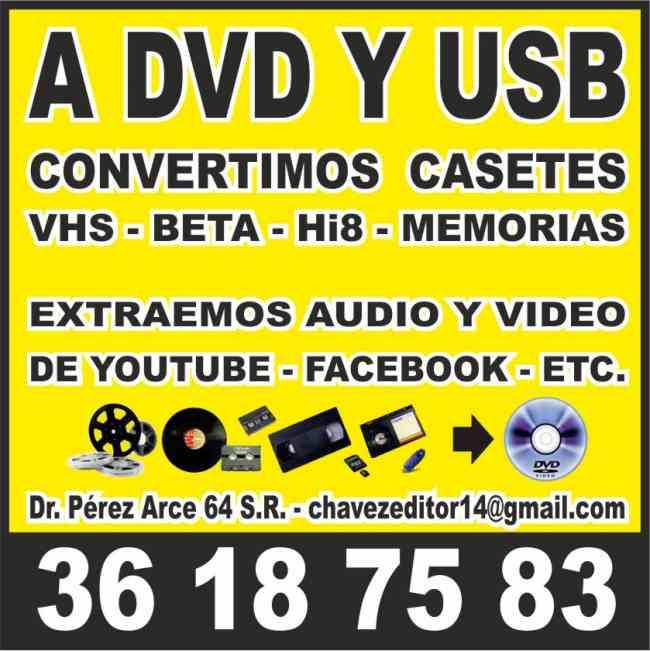 Transferencia de Video Casetes a DVD y USB en GDL