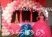 Telas, decoracion con globos para bodas, xv aÑos
