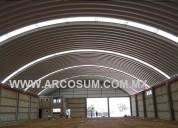 Estructuras metalicas de medio circulo (arcotechos)