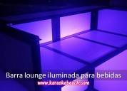 Renta de barra lounge iluminada para bebidas en monterrey rokolas salas lounge salas lonch