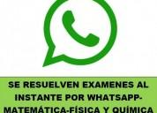 Solucion de examenes y ejericicios por whatsapp