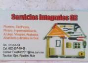 Plomeria parra 0446622577968 y  3105363