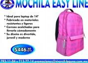 Mochila easy line rosa para laptop