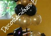 Decoracion con globos para graduacion profesionale