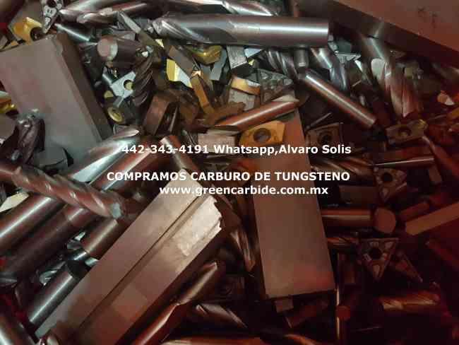 SCRAP CARBIDE DE TUNGSTENO COMPRA EN TIJUANA