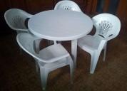 Paquete de mesa con sillas plasticas