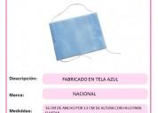 Cubreboca tela azul. medidas: 16 cm de ancho por 1