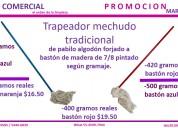 Trapeador de pabilo tradicional