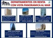 Departamentos en renta con vista al mar 3 dormitorios