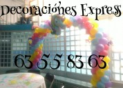 Decoracion con globos unicornio, ponis, minnie