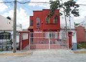 se vende casa en cancun fraccionamiento paseos del caribe seg 24 7 3 dormitorios 94 m2