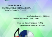 Cortadora manual de disco hycon hcs16 pro