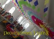 Decoración con tela y globos para todo tipo de evento