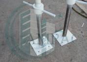 Base plana con tornillo ajustable para andamio,