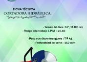 Cortadora manual de disco hycon  hcs14pro