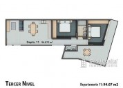 venta departamento exterior roof garden col roma 2 estac 2 dormitorios 91 m2