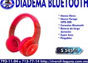 Diadema bluetooth vorago hpb-300